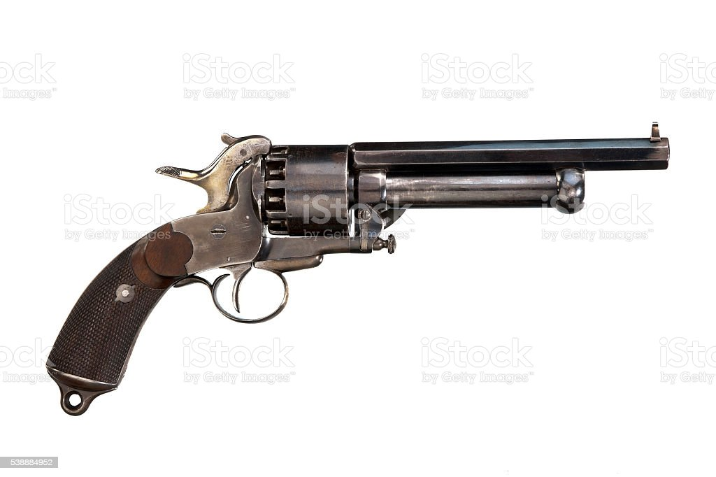 Pistol original revolver stock photo