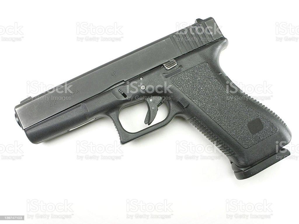 .40 SW Pistol royalty-free stock photo