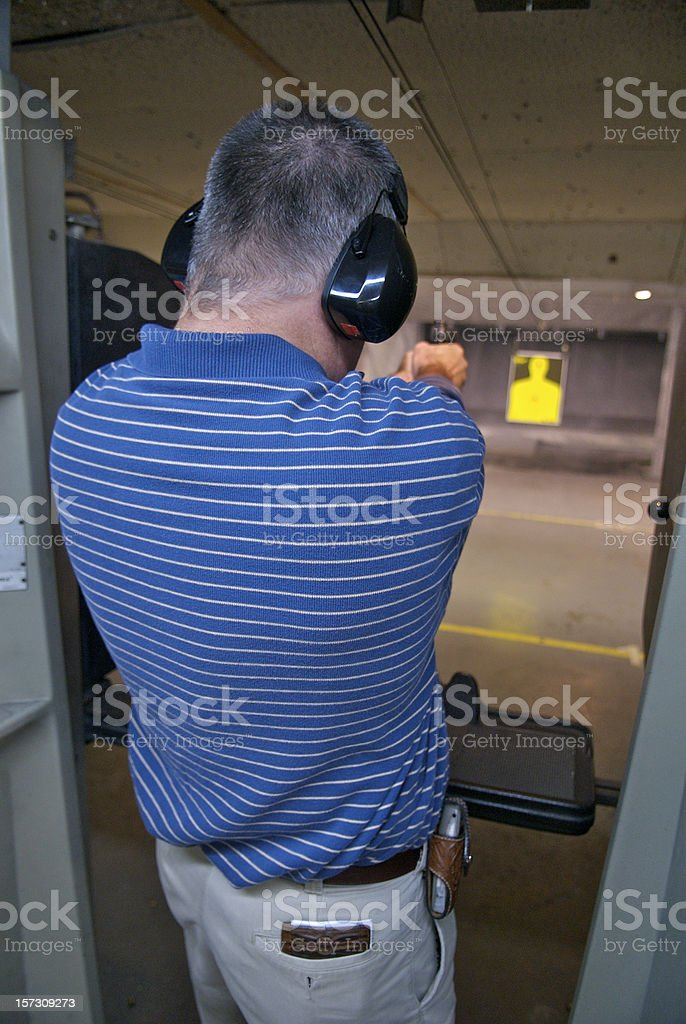 Pistol Practice royalty-free stock photo