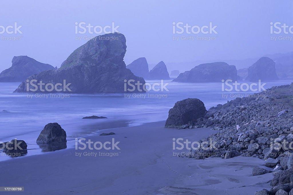 Pistol River Beach at dawn stock photo