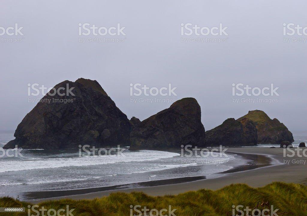 Pistol River Rocks stock photo
