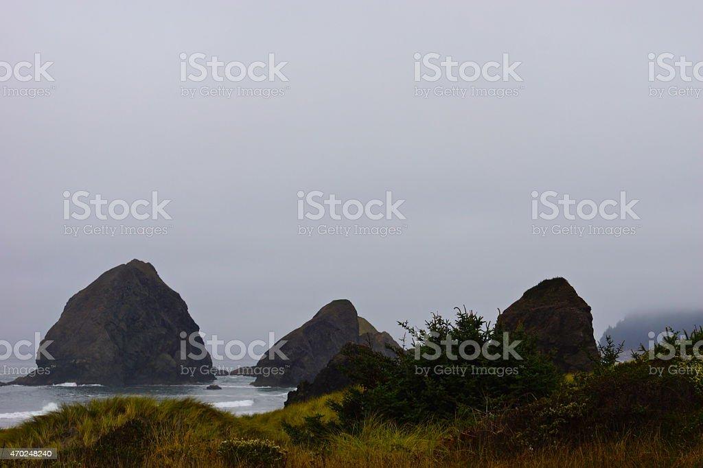 Pistol River Seastacks stock photo