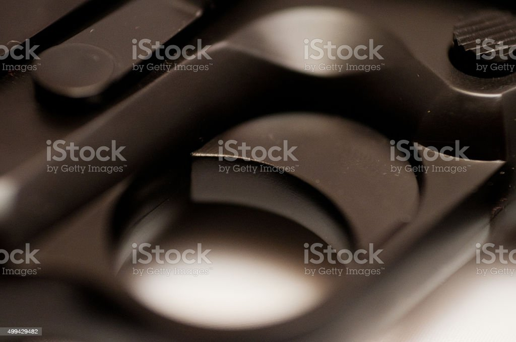 Pistol trigger detail stock photo