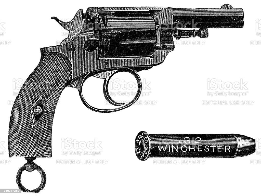 Pistol winchester stock photo