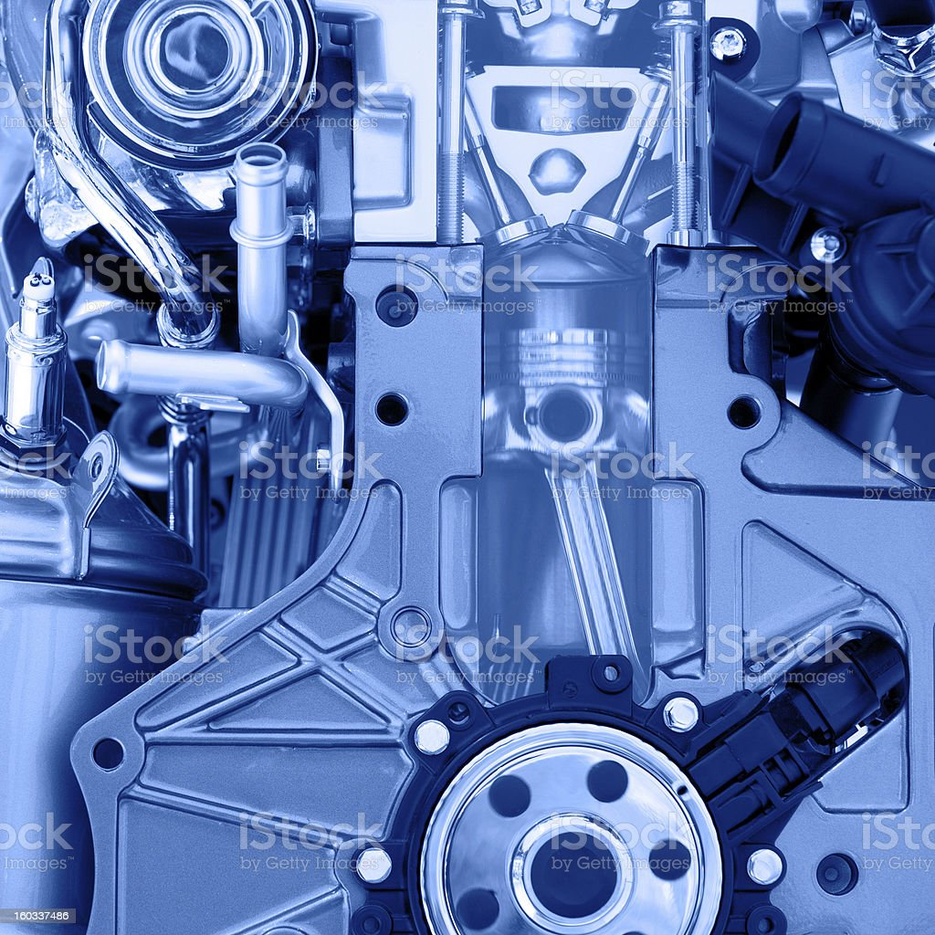 Piston motion in engine royalty-free stock photo