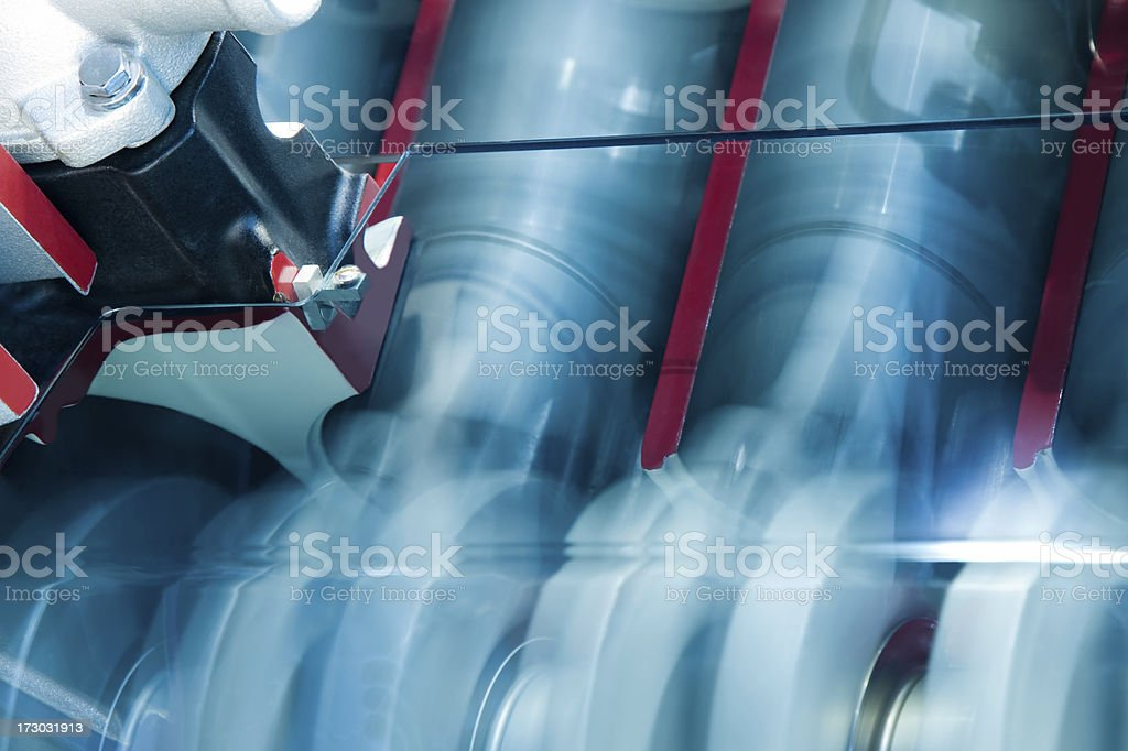 Pistons in motion stock photo