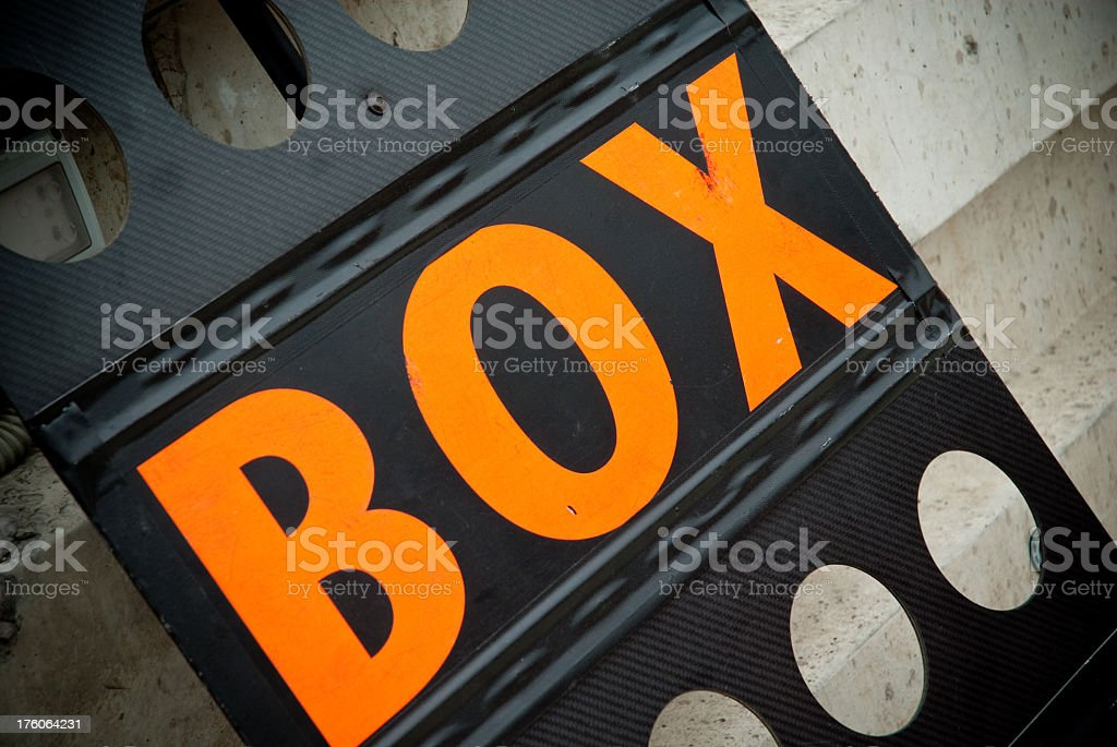 Pit Board royalty-free stock photo