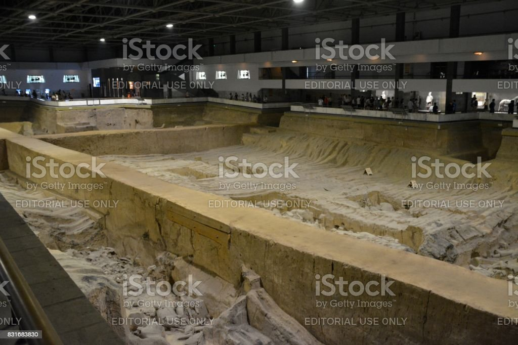 Pit four, Terracotta Army of Xi'an, Shaanxi, China stock photo