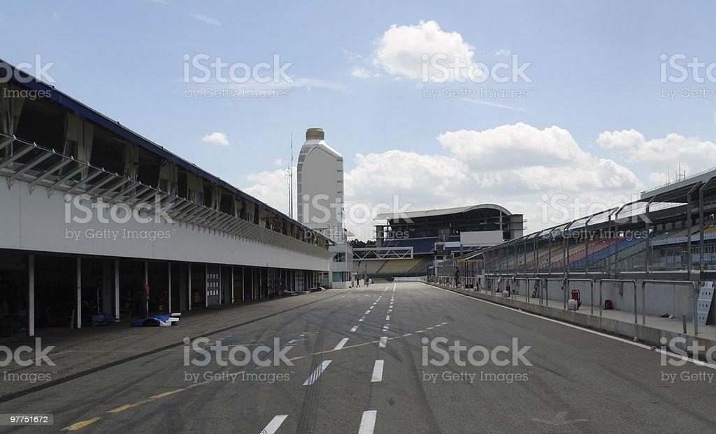 pit lane in Hockenheim stock photo