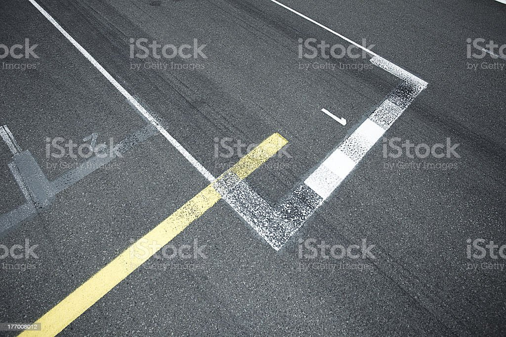 pit lane stock photo