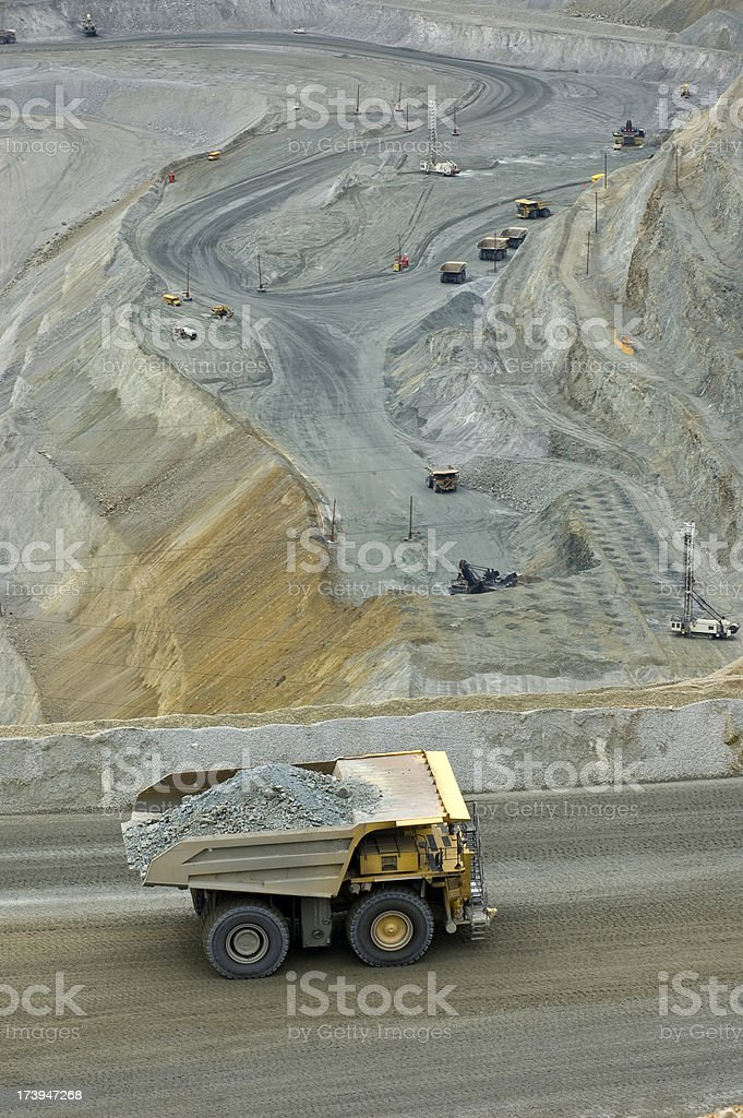 Pit Mine royalty-free stock photo