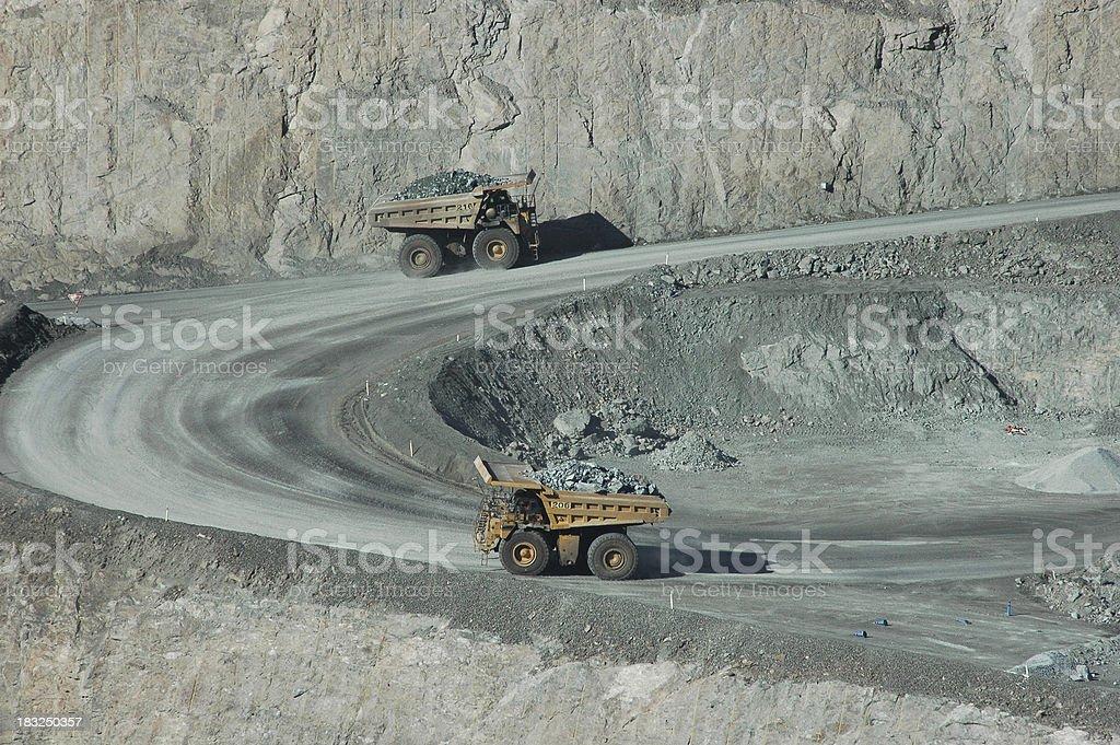 Pit Mining royalty-free stock photo