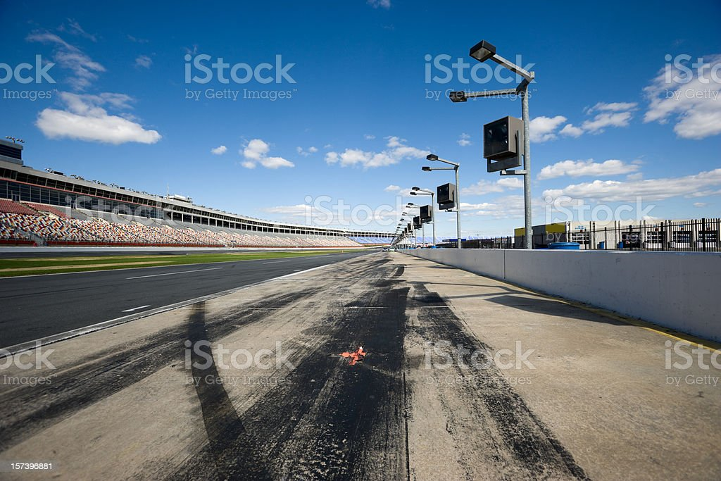 Pit Row stock photo