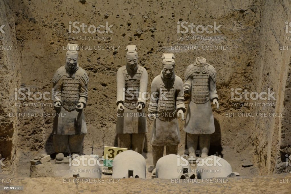 Pit three, Terracotta Army of Xi'an, Shaanxi, China stock photo