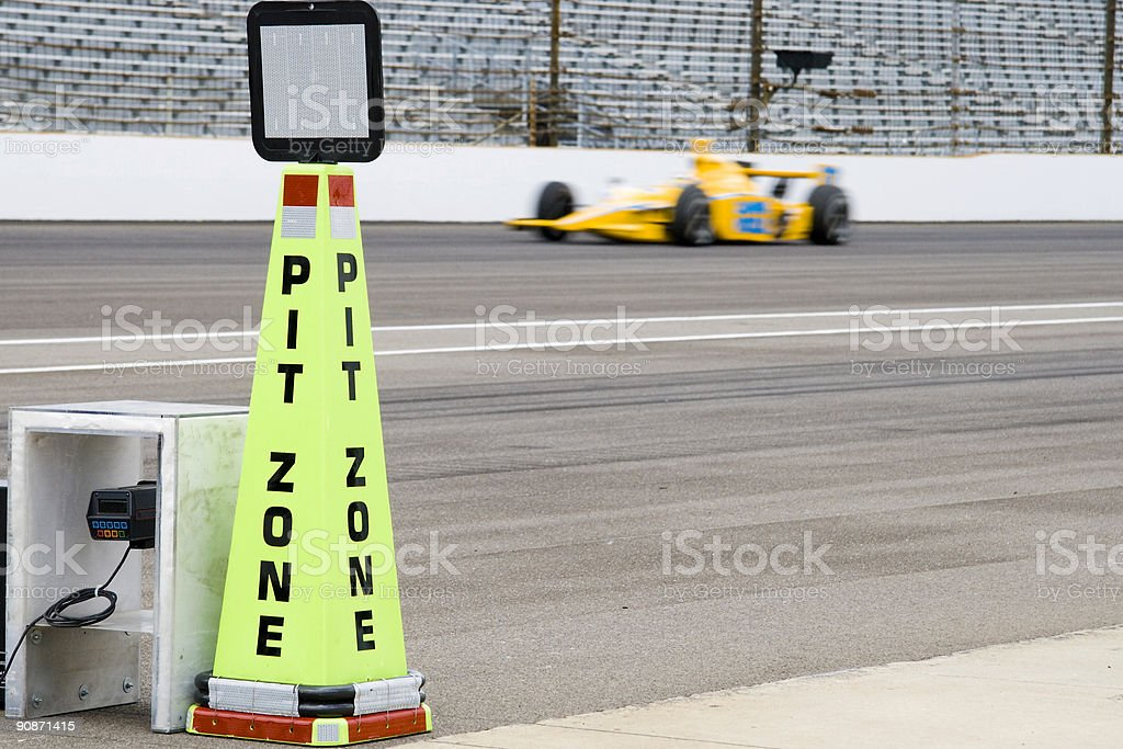 Pit zone, horizontal royalty-free stock photo