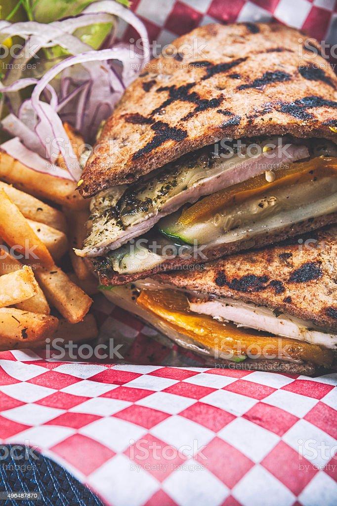 Pita bread sandwich stock photo