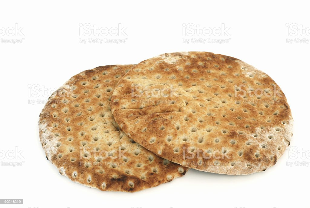 Pita flat bread stock photo