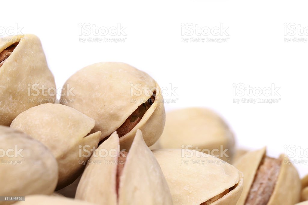 Pitachios are located at the bottom left royalty-free stock photo
