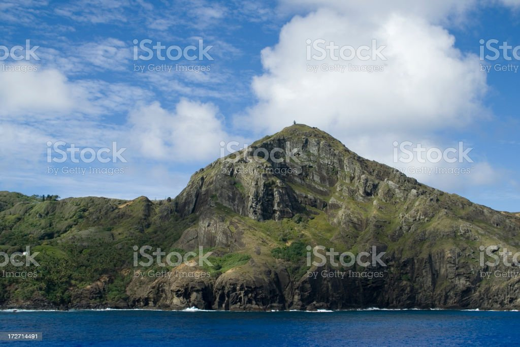Pitcairn Island in the South Pacific stock photo