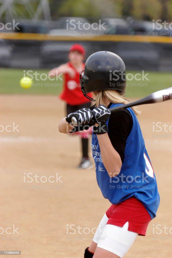 Pitch on the way royalty-free stock photo
