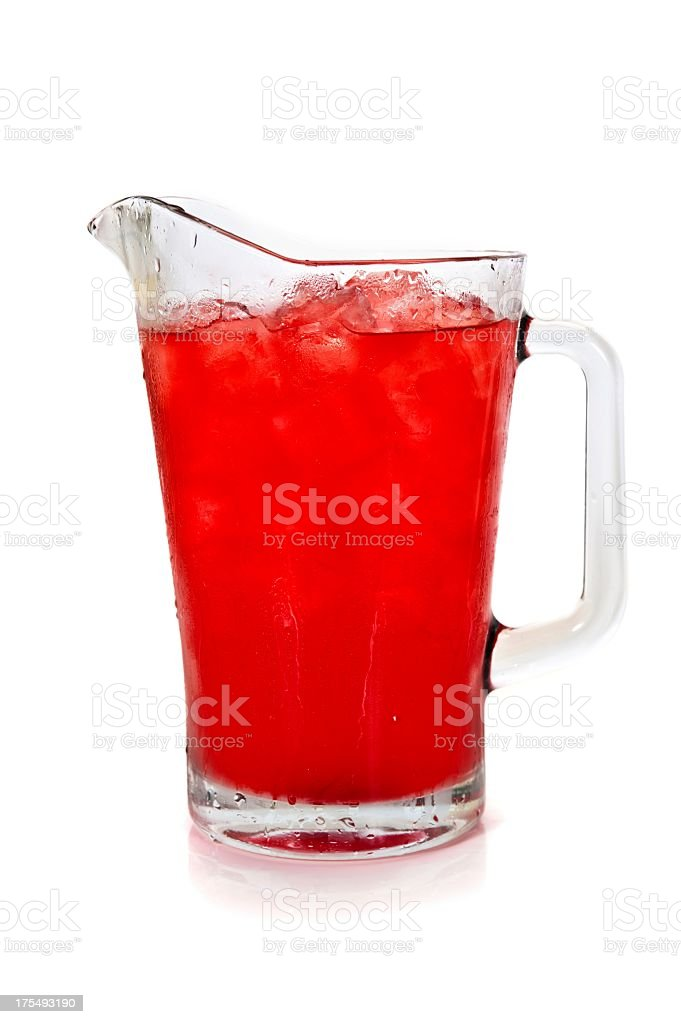 Pitcher full of refreshing fruit punch stock photo
