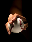 Pitcher holding a baseball