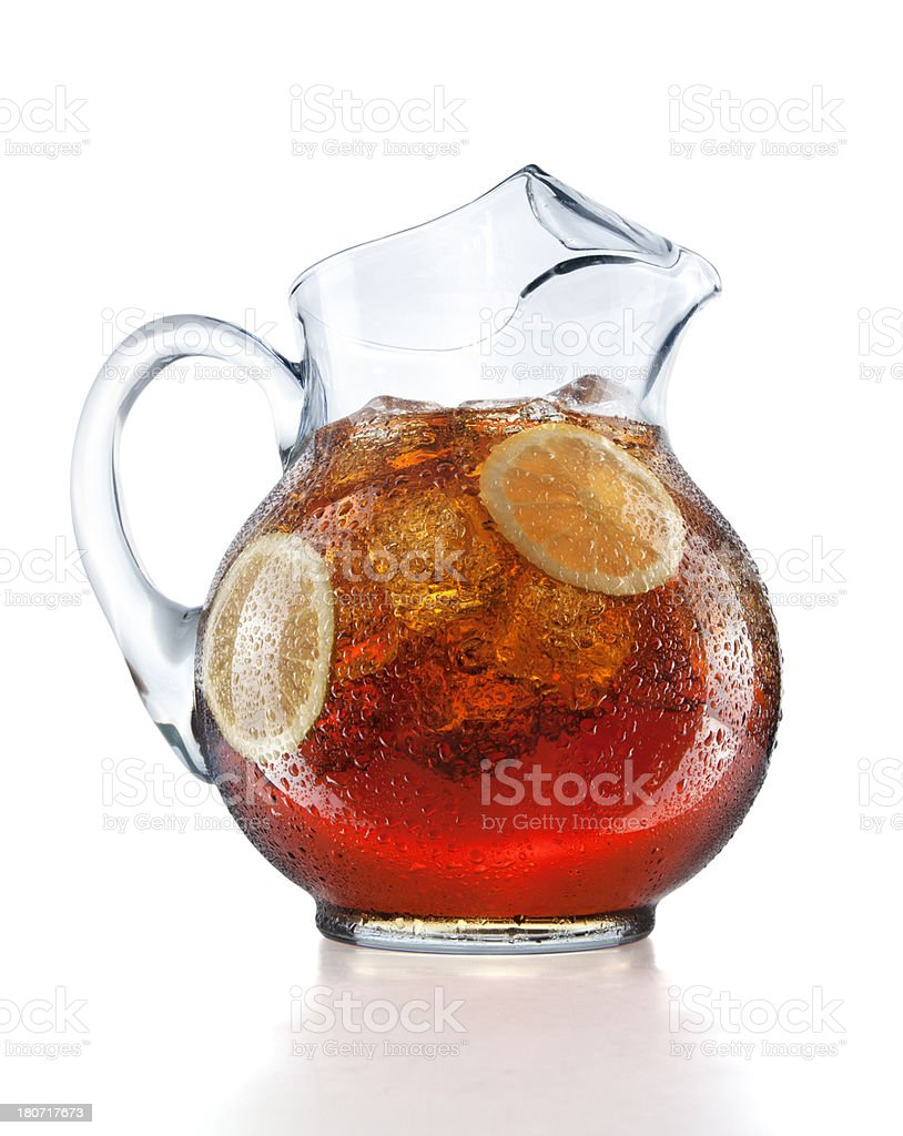 Pitcher of Iced Tea stock photo
