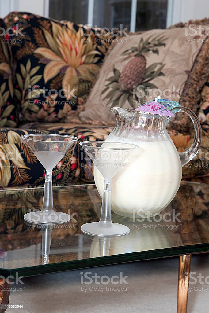 pitcher of pina colada royalty-free stock photo