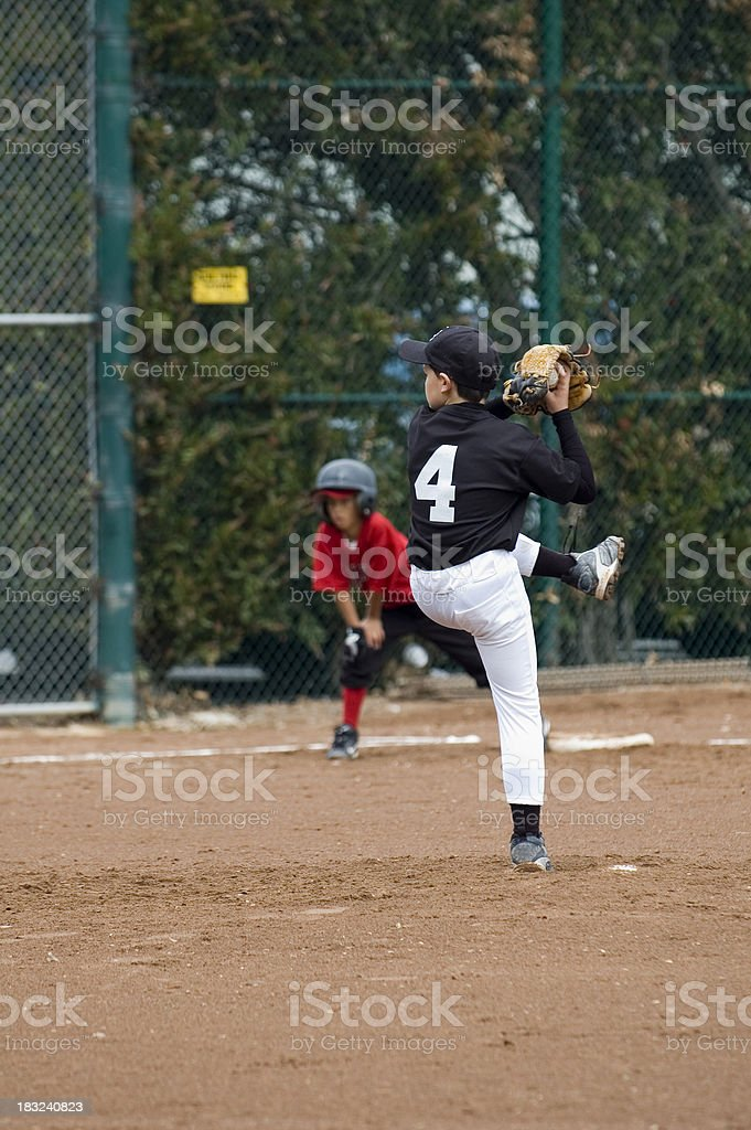 Pitcher Winding Up royalty-free stock photo