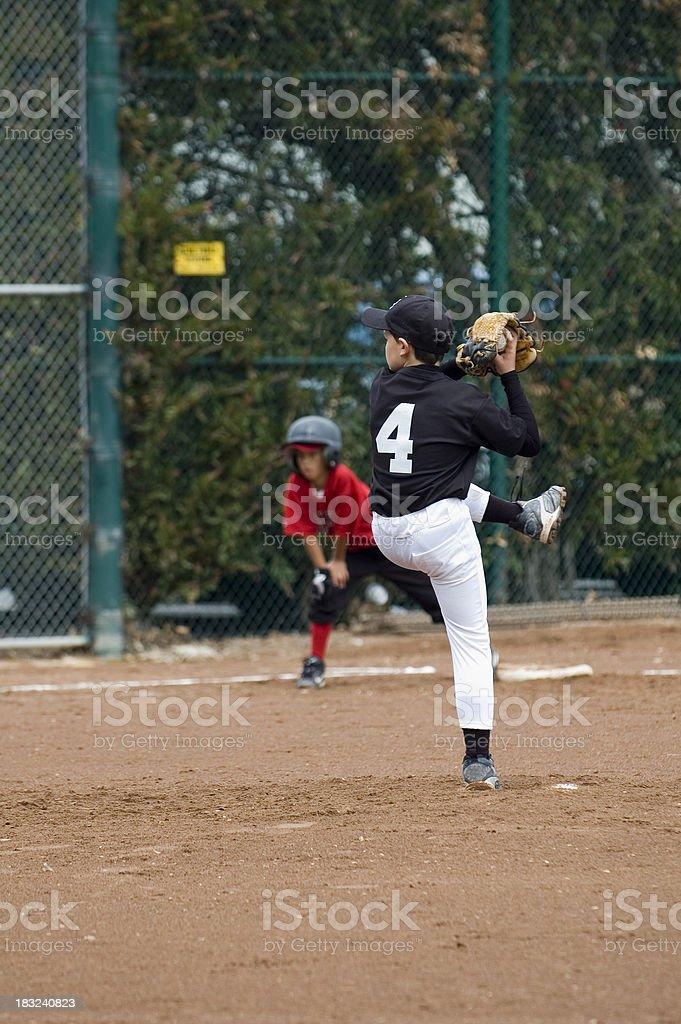 Pitcher Winding Up stock photo