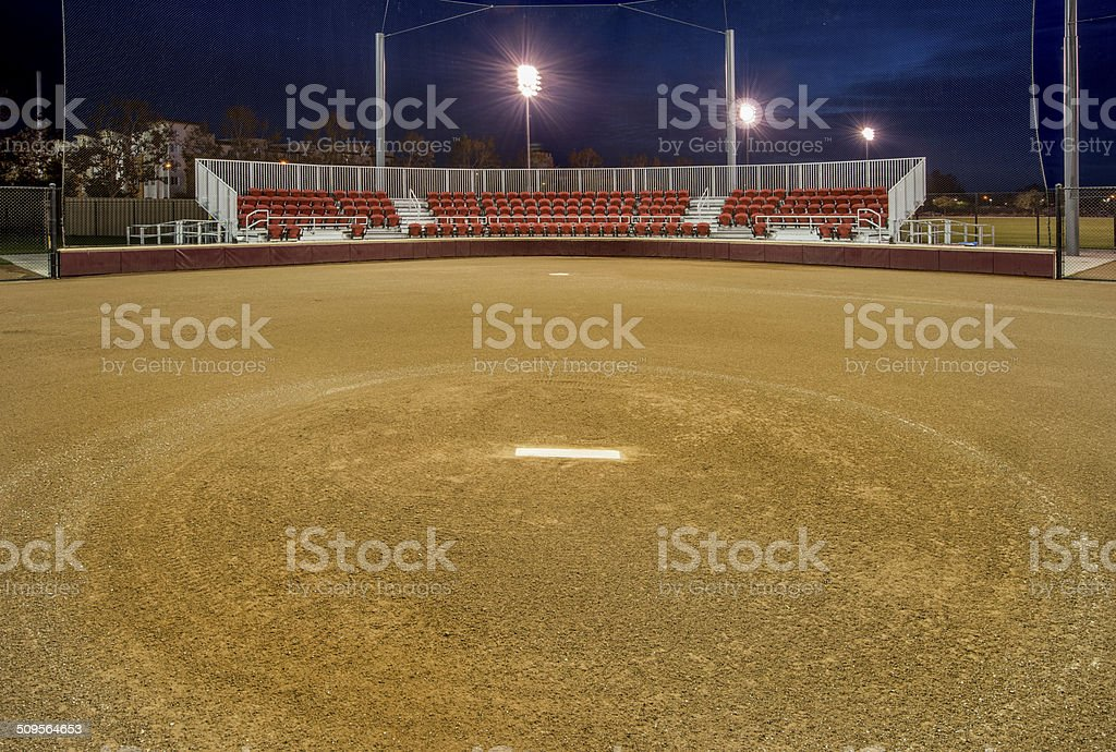Pitcher's Circle on Softball Field stock photo