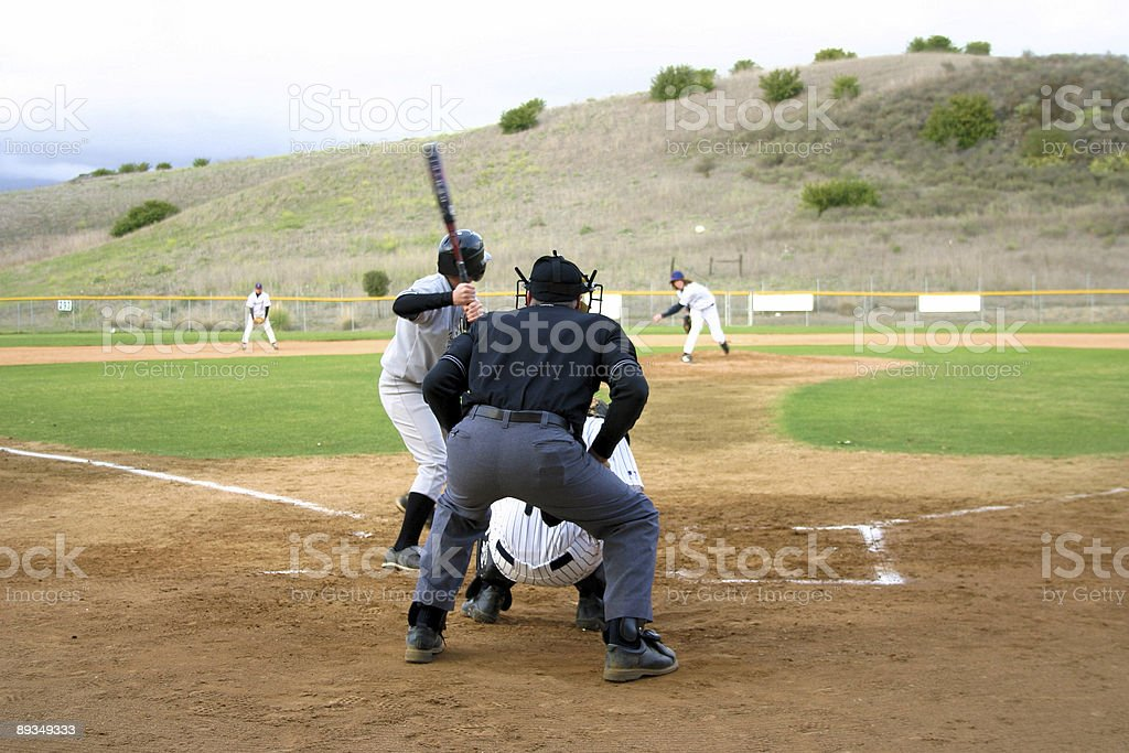 Pitchers game stock photo