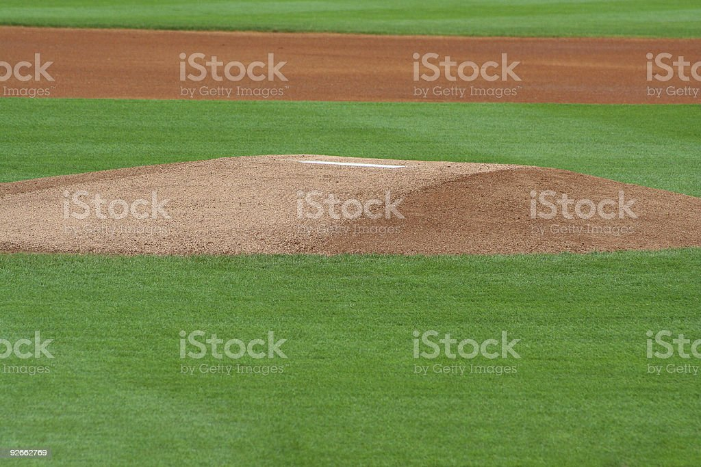 Pitcher's Mound stock photo