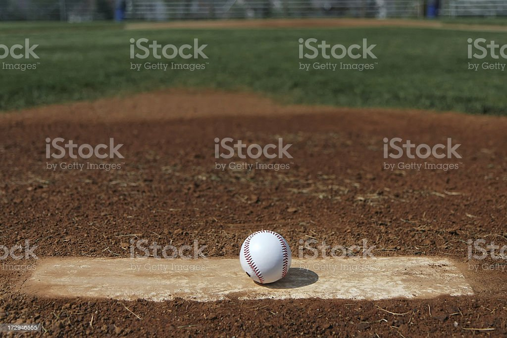 Pitcher's Perspective stock photo