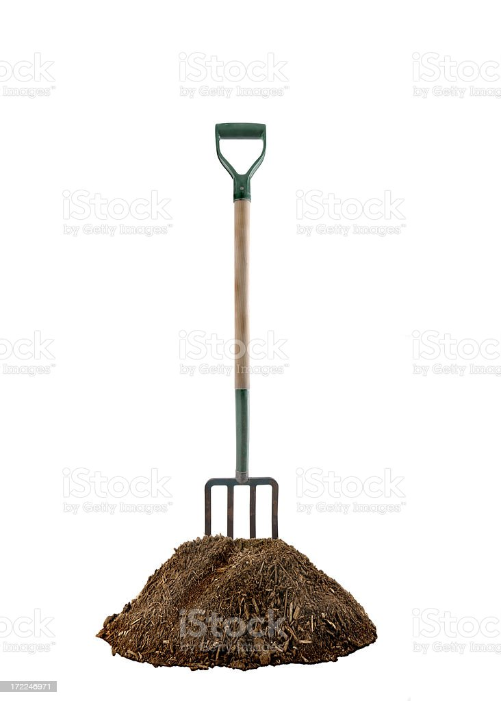 Pitchfork and Dirt stock photo