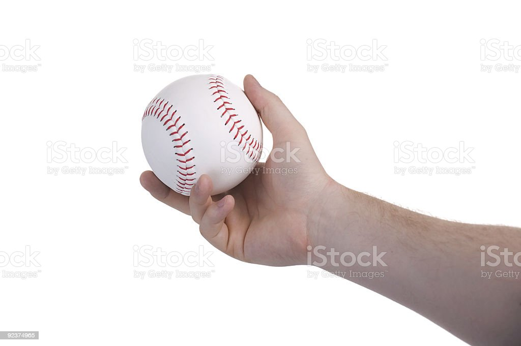 Pitching Baseball stock photo