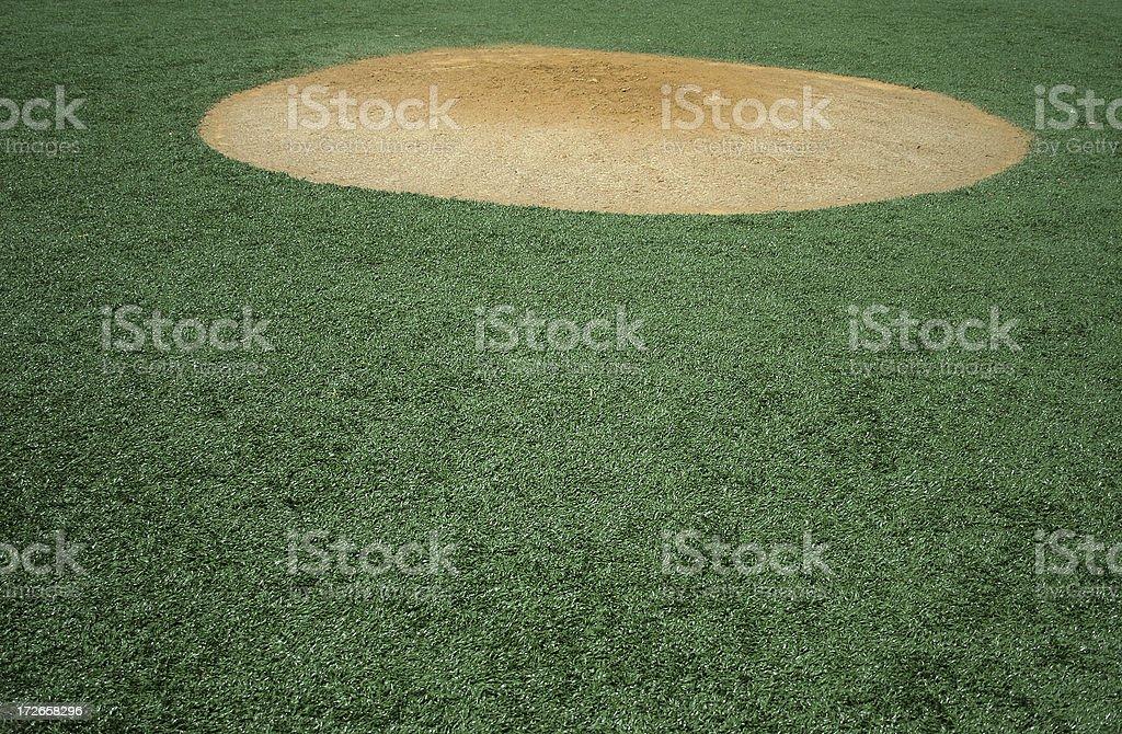 pitching mound stock photo