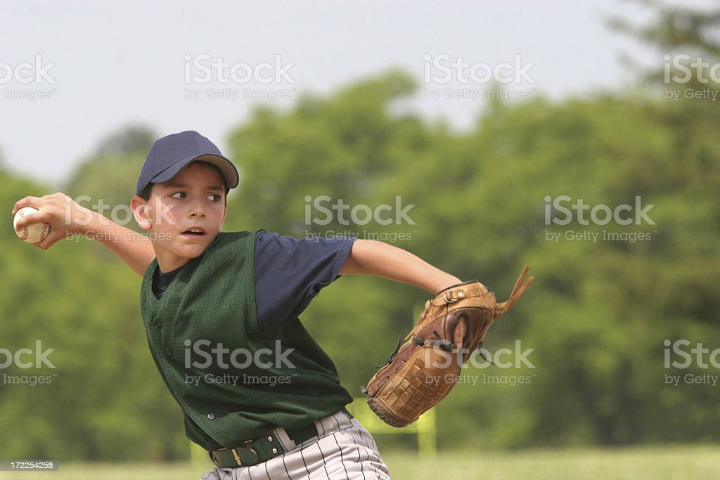 ADK Pitching royalty-free stock photo