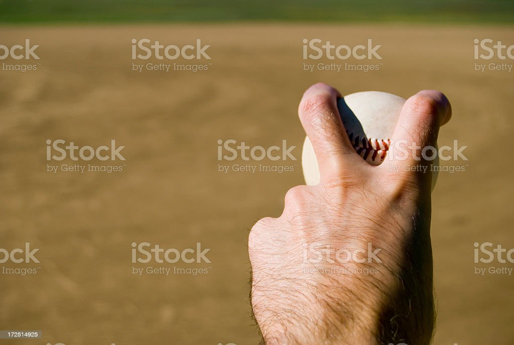 Pitching royalty-free stock photo