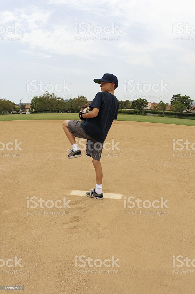 Pitching practice royalty-free stock photo