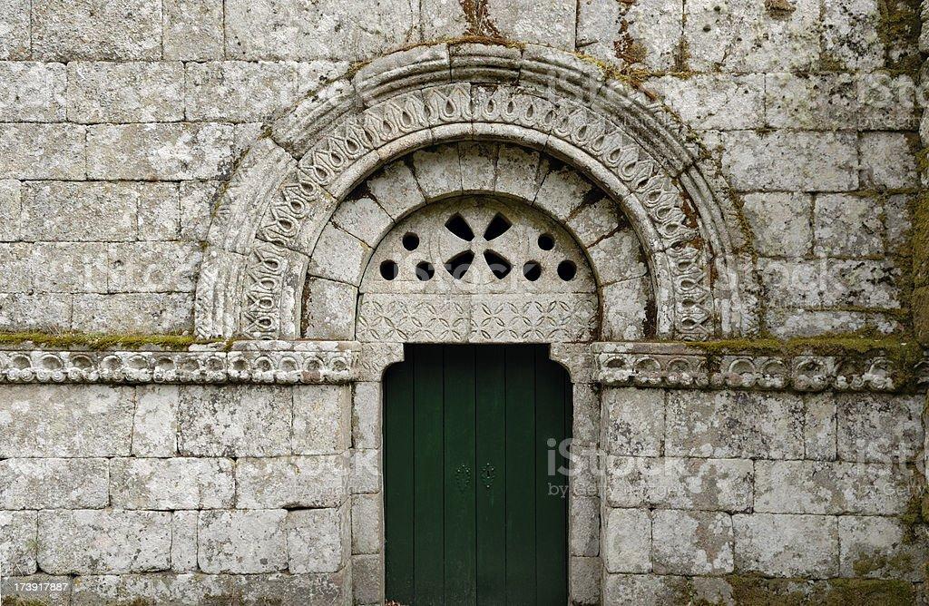 Pitões das Júnias monastery portal stock photo