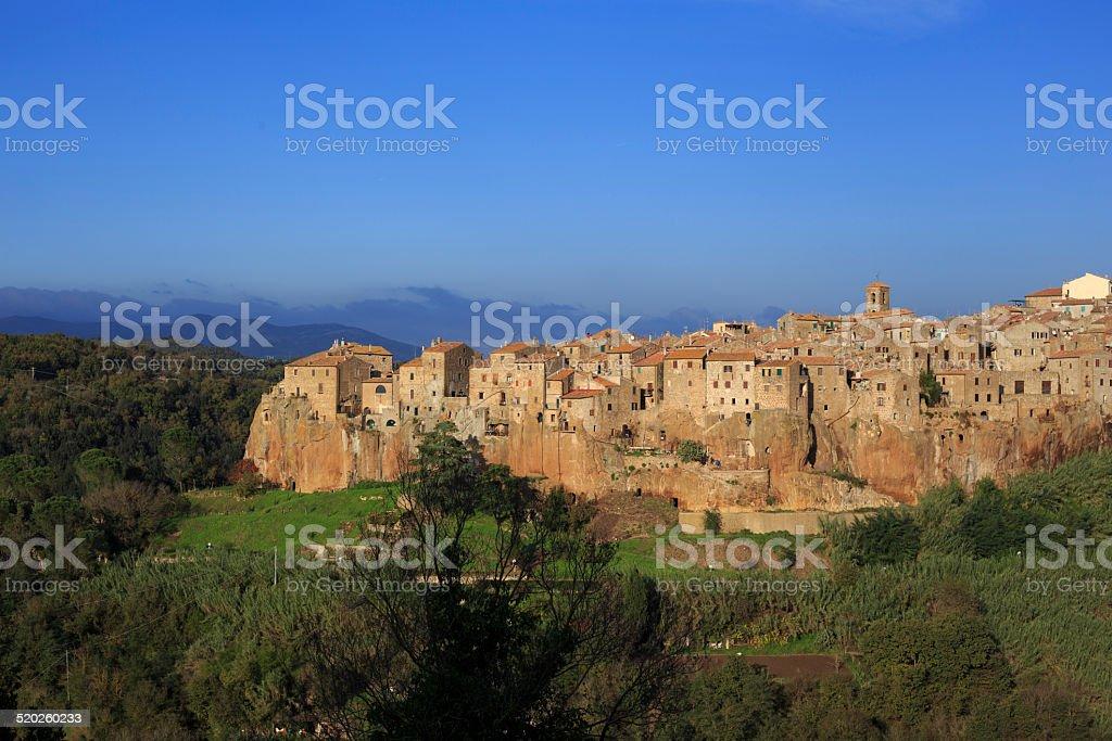 Pitigliano, hilltop town stock photo