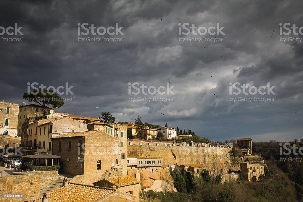 Pitigliano in Tuscany stock photo