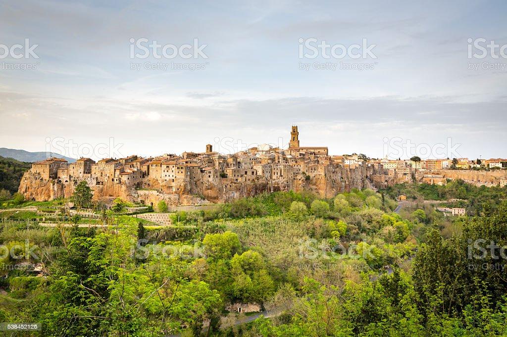 Pitigliano panorama - Tuscany stock photo