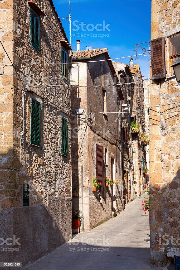Pitigliano, Tuscany, old city. Color image stock photo