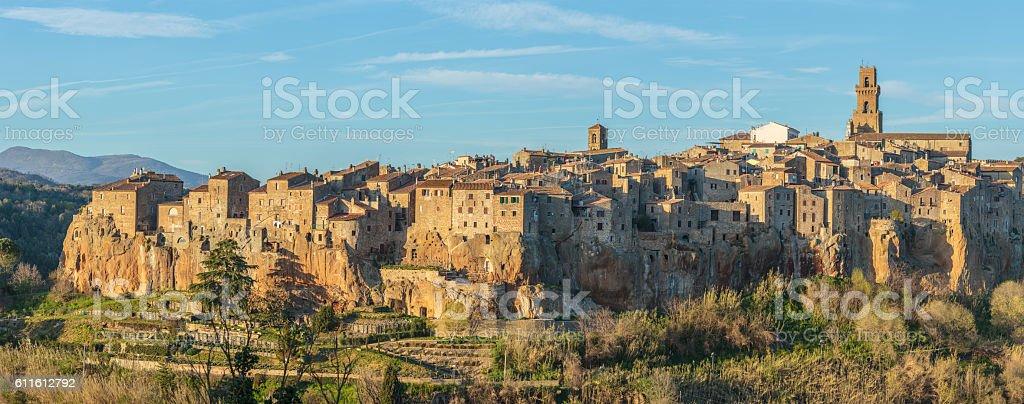 Pitigliano-Etruscan tuff city stock photo