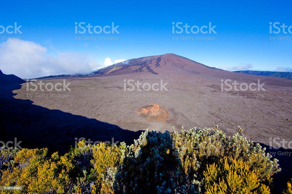 Piton de la Fournaise - Reunion Island stock photo