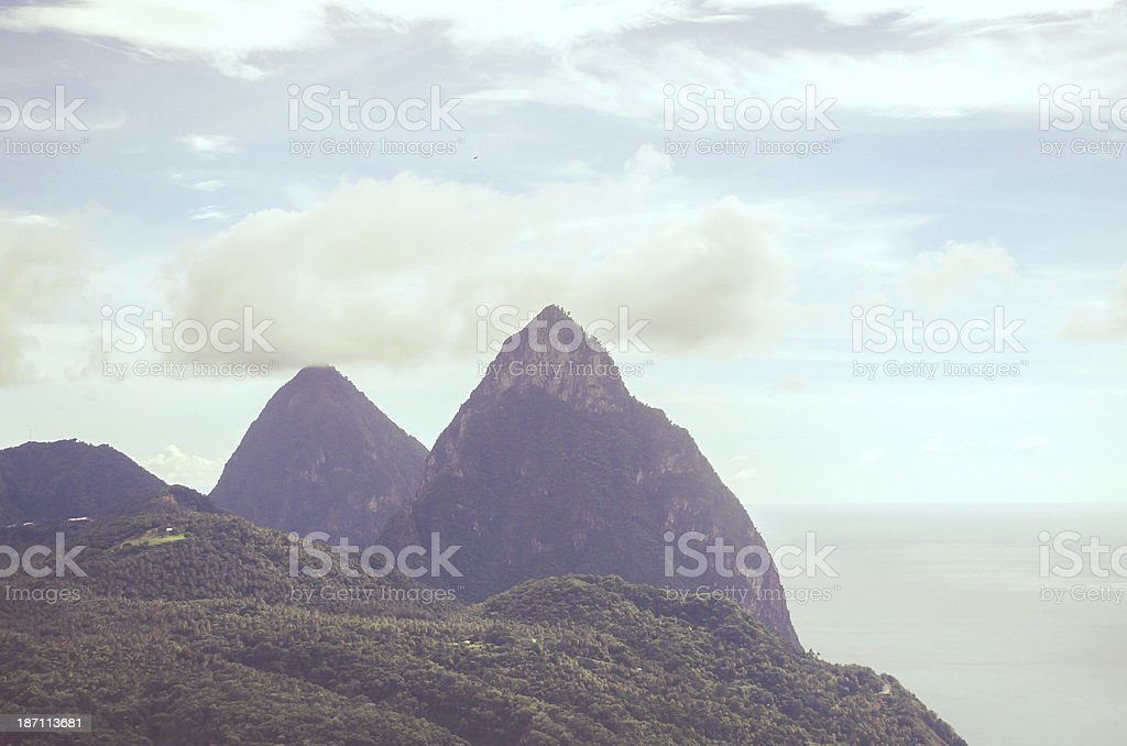 Pitons atmosphere royalty-free stock photo