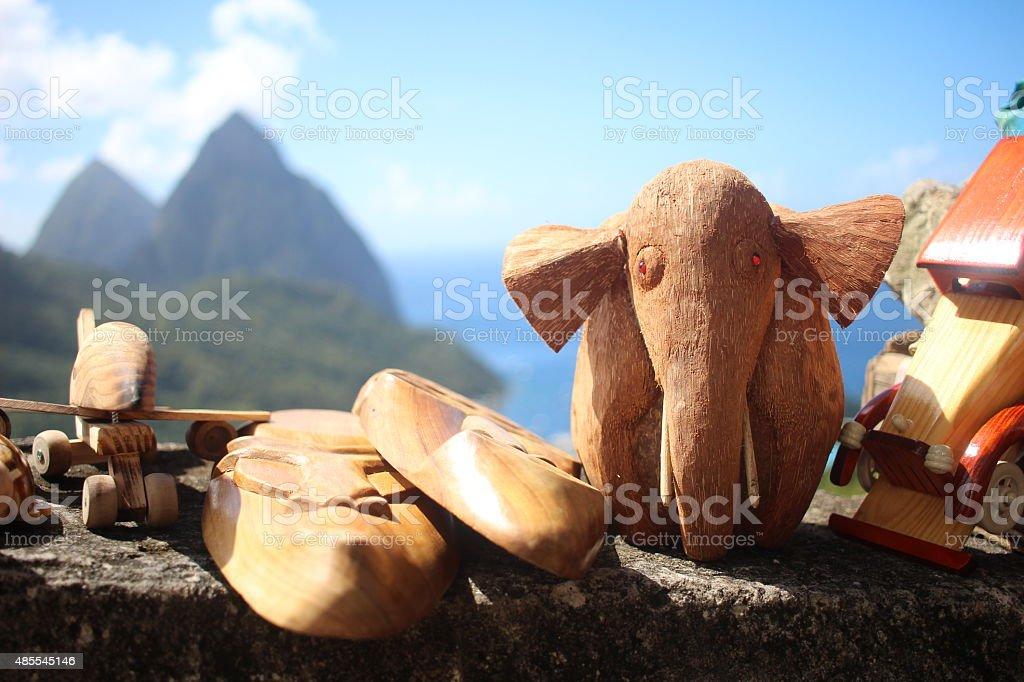 Pitons St. Lucia Elephant stock photo