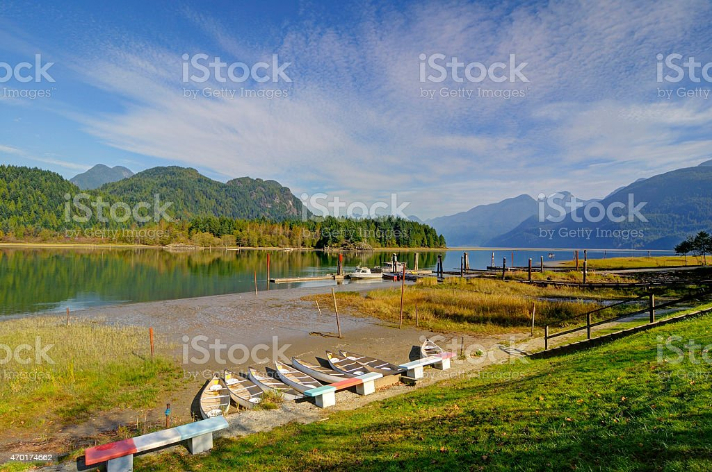 Pitt Lake stock photo